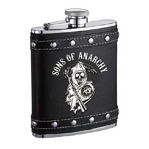 Flask Sons Of Anarchy Black Logo Flask