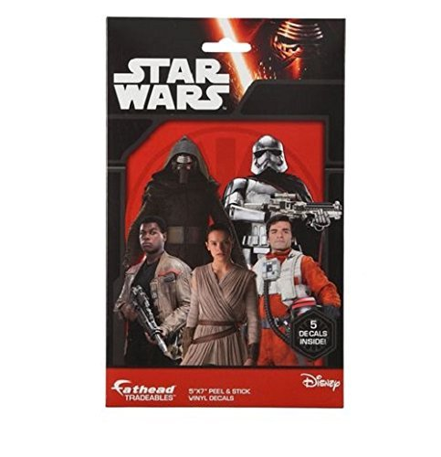 "Fathead Tradeables Star Wars Force Awakens 5 5""x7"" Decals 00601"