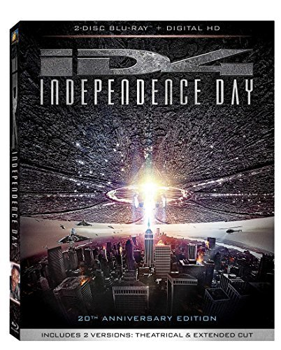 Independence Day Smith Pullman Goldblum Blu Ray Dc Pg13 20th Anniversary Edition