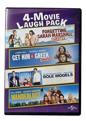 4 Movie Laugh Pack Forgetting Sarah Marshall Get Him To The Greek Role Models Wanderlust