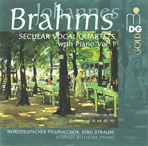 Jorg Brahms Straube Secular Choral Works With Pian