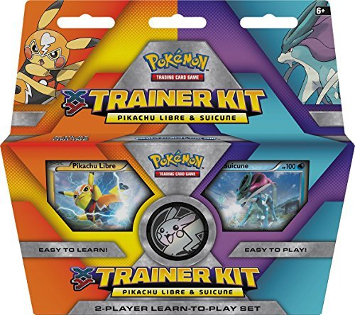 Pokemon Cards Xy Trainer Kit Pikachu Libre & Suicune Learn To Play Deck & Playmat