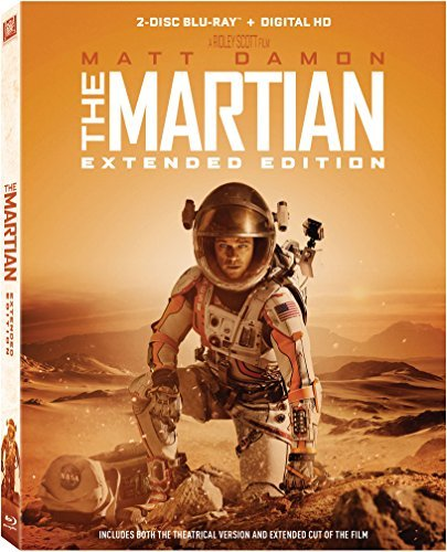 Martian Damon Chastain Mara Wiig Daniels Ejiofor Blu Ray Dc Extended Edition Pg13
