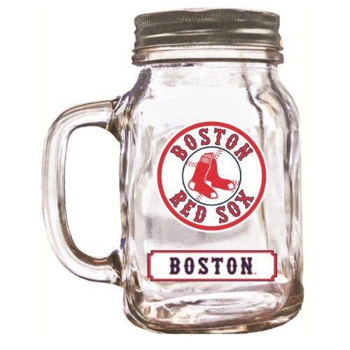 Mason Jar Boston Red Sox