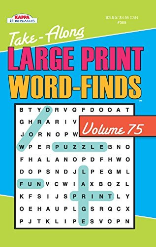 Kappa Books Publishers Take Along Large Print Word Find Puzzle Book Vol. 60