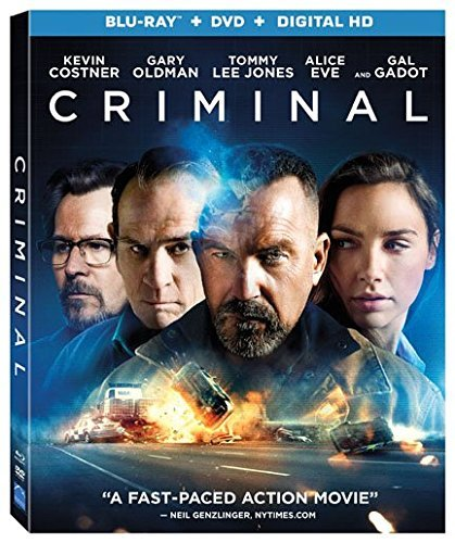 Criminal Costner Reynolds Oldman Jones Gadot Blu Ray Dc R