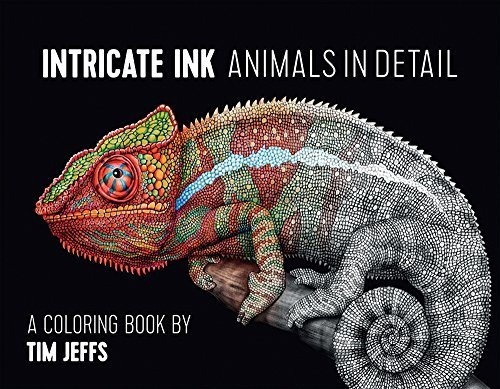 Tim Jeffs Intricate Ink Animals In Detail A Coloring Book By Tim Jeffs