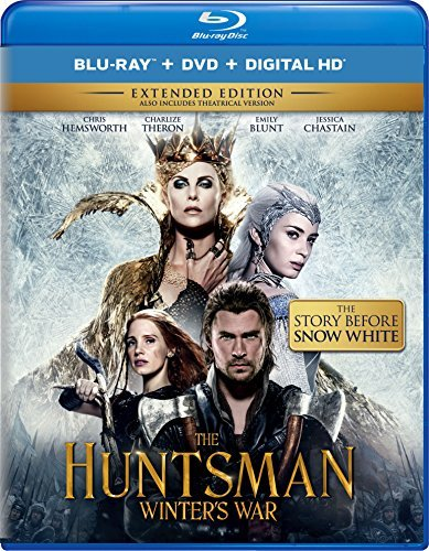 Huntsman Winter's War Hemsworth Theron Chastain Blu Ray DVD Dc Extended Cut