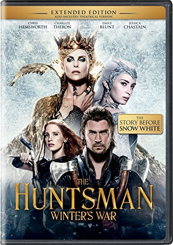 Huntsman Winter's War Hemsworth Theron Chastain DVD Extended Cut