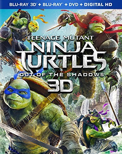 Teenage Mutant Ninja Turtles Out Of The Shadows Fox Arnett Perry 3d Blu Ray DVD Dc Pg13