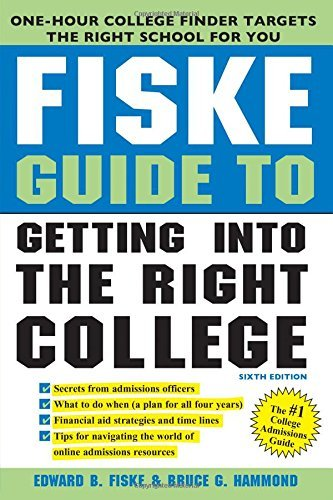 Edward Fiske Fiske Guide To Getting Into The Right College 0006 Edition;