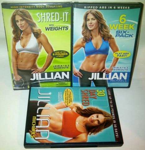 Jillian Michaels 3 DVD Set 6 Week Six Pack 30