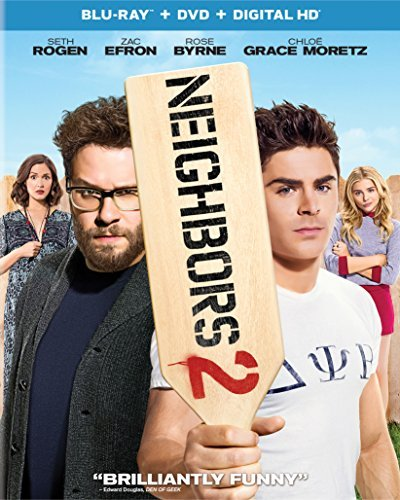 Neighbors 2 Sorority Rising Rogen Efron Byrne Moretz Blu Ray DVD Dc R