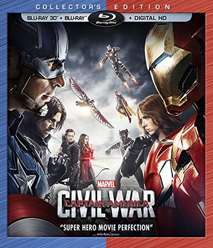 Captain America Civil War Evans Downey Blu Ray Dc Pg13