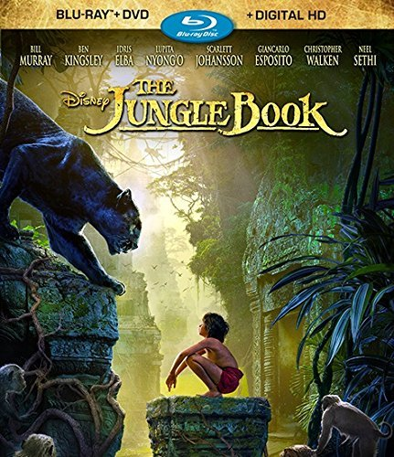 Jungle Book (2016) Sethi Murray Kingsley Blu Ray DVD Dc Pg
