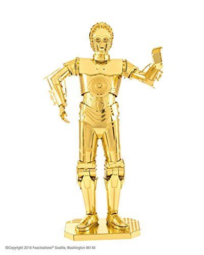 Novelty Metalearth C3 P0 Gold Star Wars