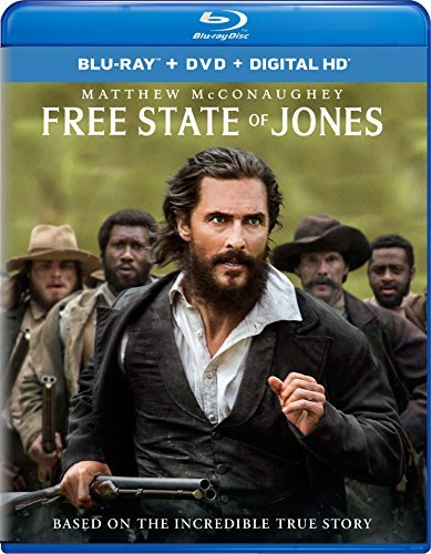 Free State Of Jones Mcconaughey Mbatha Raw Blu Ray DVD Dc R