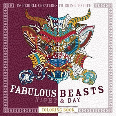 Patricia Moffett Fabulous Beasts Night & Day Coloring Book Incredible Creatures To Bring To Life