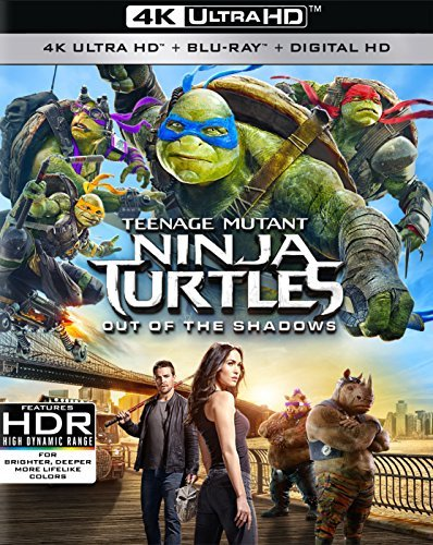 Teenage Mutant Ninja Turtles Out Of The Shadows Fox Arnett Perry 4k Blu Ray Pg13