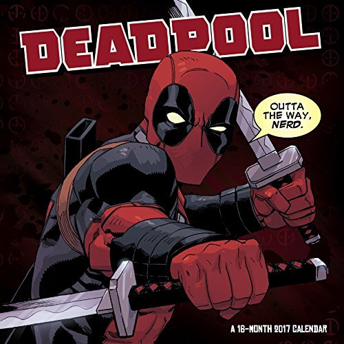 Calendar 2017 Deadpool Wall Calendar
