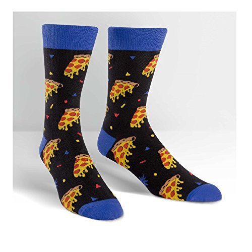 Sock It To Me Men's Fun Crew Socks Sport Party (men's Pizza Par