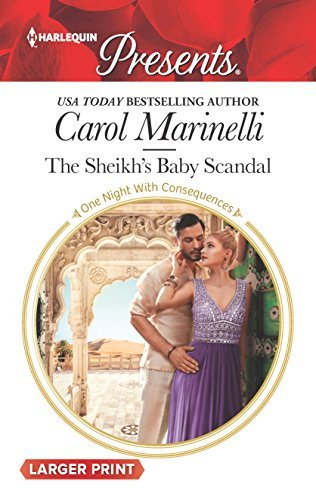 Carol Marinelli The Sheikh's Baby Scandal Large Print