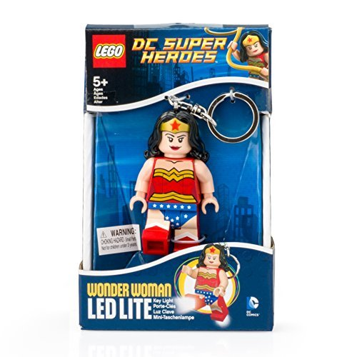Keychain Lego Wonder Woman W Led Light