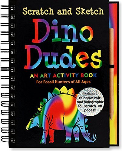 Heather Zschock Scratch And Sketch Dino Dudes An Art Activity Book For Fossil Hunters Of All Ag
