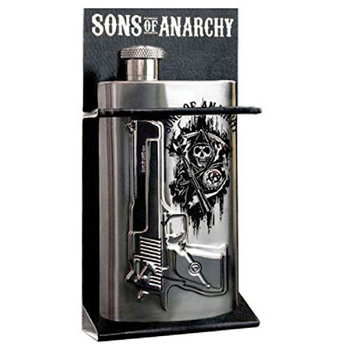 Flask Sons Of Anarchy Gun Logo