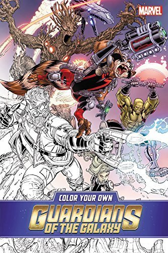 Marvel Comics Color Your Own Guardians Of The Galaxy