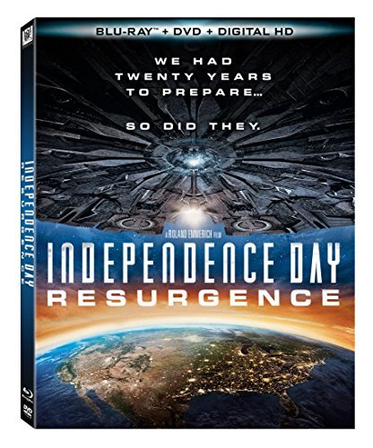 Independence Day Resurgence Hemsworth Goldblum Pullman Blu Ray DVD Dc Pg13