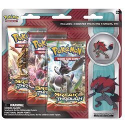 Pokemon Cards Zoroark 3 Pack Blister With Pin