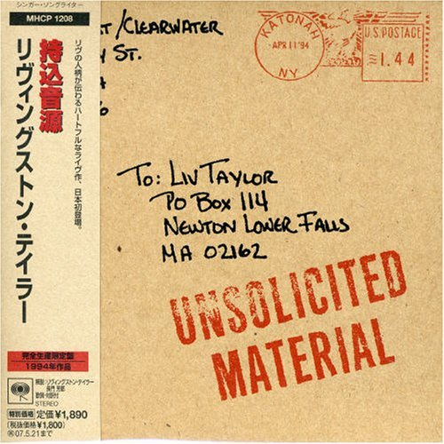 Livingston Taylor Unsolicited Material (mini Lp Import Jpn Lmtd Ed. Paper Sleeve