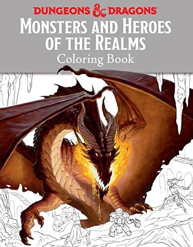 Templar Books Monsters And Heroes Of The Realms A Dungeons & Dragons Coloring Book