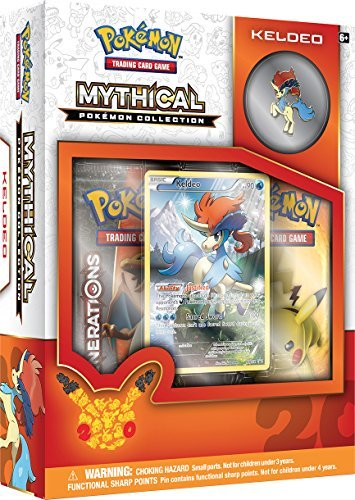 Pokemon Cards Mythical Kaldeo Pin Box