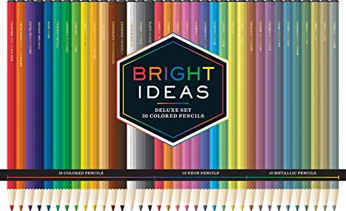Chronicle Books Bright Ideas Deluxe Set 36 Colored Pencils