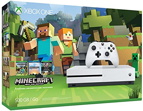 Xbox One S System S 500gb Minecraft Bundle