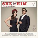 She & Him Christmas Party (red Vinyl) 150 Gram Red Vinyl With D L Insert And Holiday Greeting Card