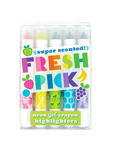 International Arrivals Fresh Pick Scented Gel Crayon Highlighters Set Of