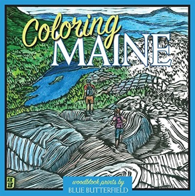 Blue Butterfield Coloring Maine