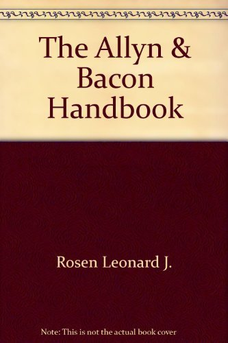 Leonard J Rosen The Allyn & Bacon Handbook