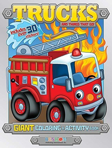 Bendon Publishing Trucks & Things That Go 224 Page Giant Coloring & Activity Book
