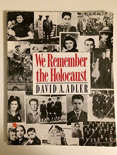 David A Adler We Remember The Holocaust