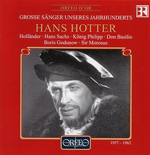 Hans Hotter Great Singers Of Our Century Hotter (b Bar) Great Singers Of Our Century