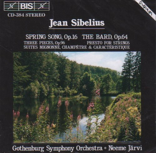 J. Sibelius Spring Song Bard Presto Valse Jarvi Gothenburg So