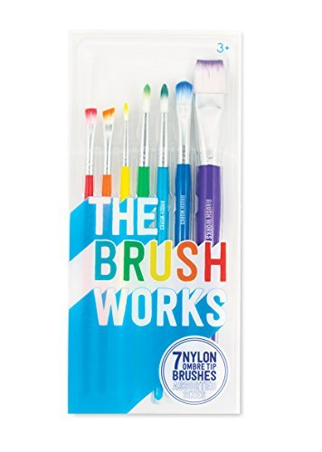 International Arrivals The Brush Works Paint Brushes Set Of 7