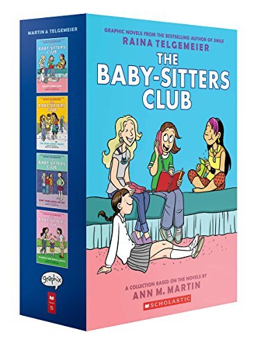 Raina Telgemeier The Baby Sitters Club Graphix #1 4 Box Set Full Color Edition Full Color