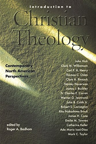Roger A. Badham Introduction To Christian Theology Comtemporary North American Perspectives