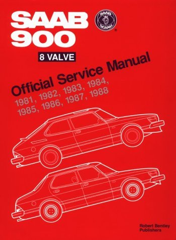 Bentley Publishers Saab 900 8 Valve Official Service Manual 1981 1988