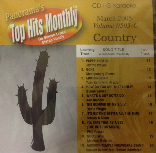 Panorama Top Hits Monthly Country March 2005 Karaoke